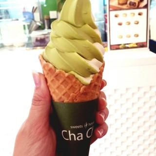 green tea and vanilla ice-cream - 位於銅鑼灣的Sweets House Cha Cha (銅鑼灣) | 香港