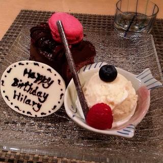 Birthday dessert (lychee ice-cream)🍧 -  dari Shou Zen (上環) di 上環 |Hong Kong