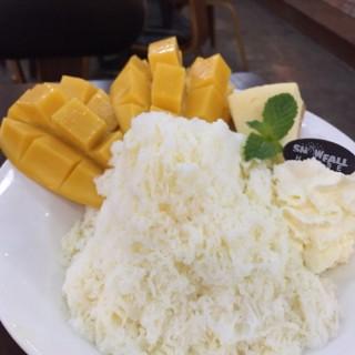 Mango cheese cake cotton snow - 位于ปทุมวัน的Snowfall House (สโนว์ฟอล เฮาส์) (ปทุมวัน) | 曼谷