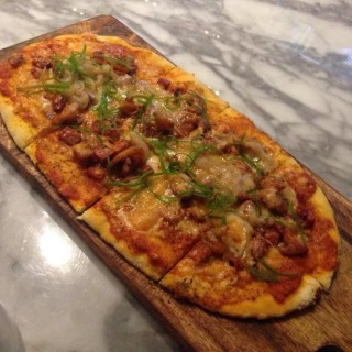 Chorizo and Shrimp Flatbread Pizza - Fort Bonifacio 's Todd English Food Hall (Fort Bonifacio )|Metro Manila