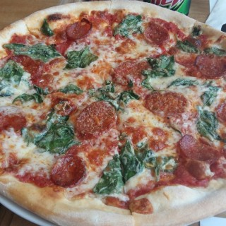 Chorizo and Spinach Pizza  - Ortigas's Amici (Ortigas)|Metro Manila