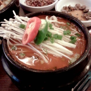 kimchi soup and rice set -  Klang / Myung-Ga Korean Restaurant (Klang)|Klang Valley
