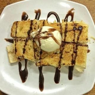 Roti bakar keju ice cream -  dari Roti Bakar Eddy (Margonda) di Margonda |Jakarta
