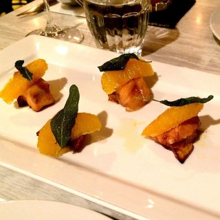 Salmon Belly with plum dressing and garnishes of sage, roasted pumpkin -  Mont Kiara / Ante (Mont Kiara)|Klang Valley