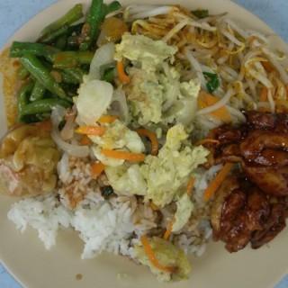 mixed rice with lots of veggies! -  Bangsar / Sin Lai Ping Restaurant (Bangsar)|Klang Valley