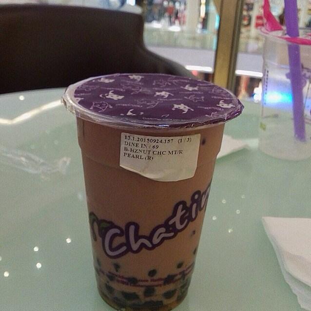 Hazelnut Chocolatw with Pearl - Chatime - Drinks - Senayan - Jakarta