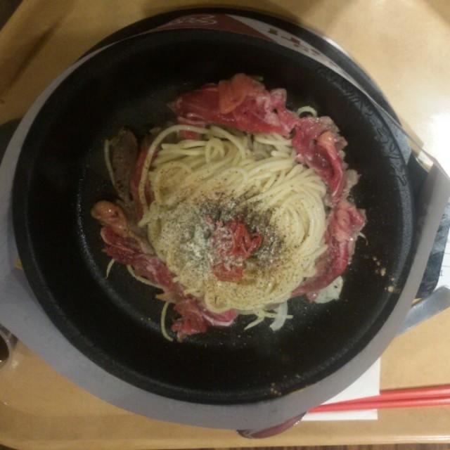 Spaghetti beef Aglio Olio - Pepper Lunch - Restaurant - Thamrin - Jakarta
