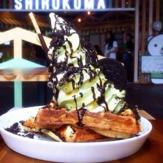 Oreo Waffle with matcha ice cream -  dari Shirokuma (Pantai Indah Kapuk) di Pantai Indah Kapuk |Jakarta