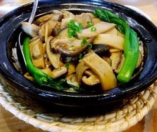鲍汁菌菇煲仔饭 - 位於的宽饭·绿氧空间 (酒仙橋) | 北京