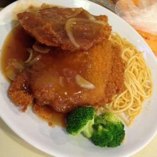 炸芝士猪扒意粉 - nongjiangsuo's 广九茶餐厅 (nongjiangsuo)|Guangzhou
