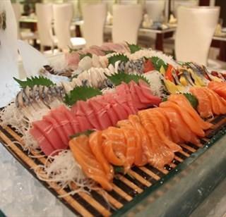 三文鱼刺身 - 位于朝阳公园/团结湖的上东商贸饭店浓咖啡餐厅 (朝阳公园/团结湖) | 北京