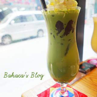 凍綠茶紅荳拿鐵 - 位於的Seoulmate Cafe (西環) | 香港