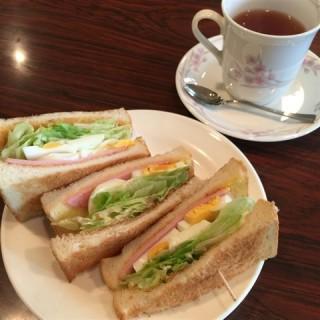 トーストサンドセット - Ichijoji, Shugakuin's CAFE&BAR KARIN (Ichijoji, Shugakuin)|Kyoto