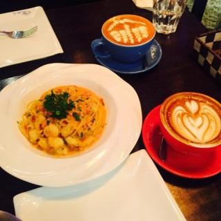 明蝦培根義大利麵 -  dari Café time after time (高士德) di 高士德 |Macau