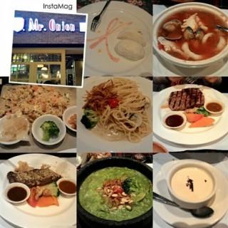 海鮮湯、鮭魚炒飯 -  dari Mr.Onion 天蔥牛排 (板橋區) di 板橋區 |New Taipei / Keelung